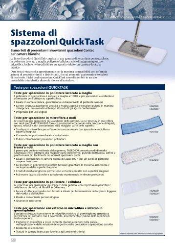Sistema di spazzoloniQuickTask - Contec