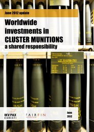 Worldwide investments in CLUSTER MUNITIONS - Stop Explosive ...