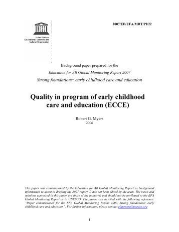 An assignment on early childhood care