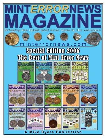 Special Edition 2006 The Best of Mint Error News - P-NUMISMATIKA