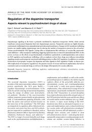 Regulation of the dopamine transporter - Addiction Research ...
