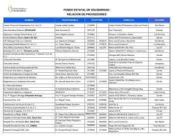 Proveedores fes 25 de nov 2011 - Gobierno del Estado de Sonora