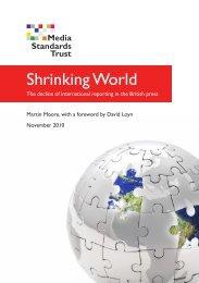 Shrinking World - Media Standards Trust