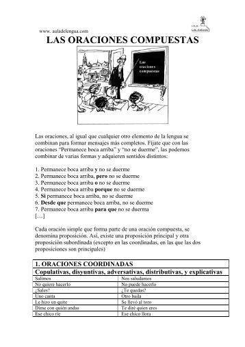 LAS ORACIONES COMPUESTAS - Aula de Lengua