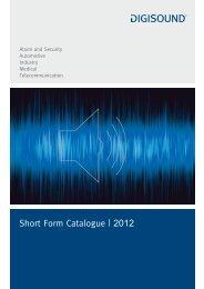 Short Form Catalogue   2012 - Elcon