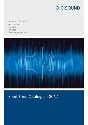 Short Form Catalogue | 2012 - Elcon