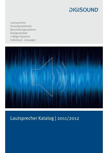 Lautsprecher Katalog | 2011/2012 - Elcon