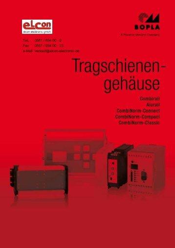 Tragschienen gehäuse - - elcon electronic GmbH