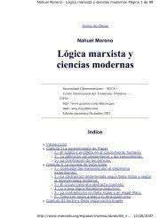 Lógica marxista y ciencias modernas - Causa Estudiantil