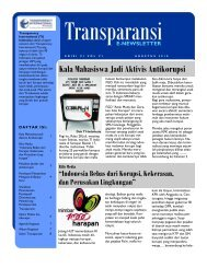 e-newsletter - Transparency International Indonesia