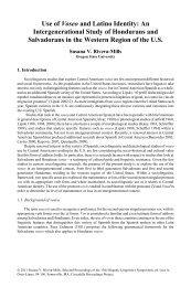 Use of Voseo and Latino Identity - Cascadilla Proceedings Project