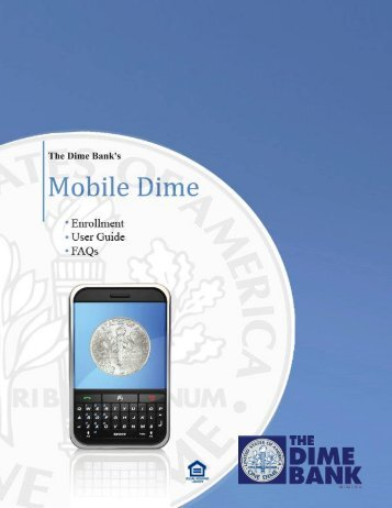 Mobile Dime User Guide - the Dime Bank