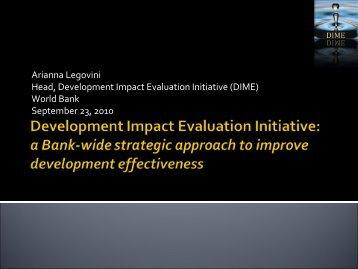 DIME Agenda for Action - Amsterdam Institute for International ...
