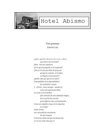 Tres Poemas - Hotel Abismo