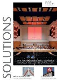 Vom Konzertsaal zum Kongresszentrum - EPS Profiled Solutions