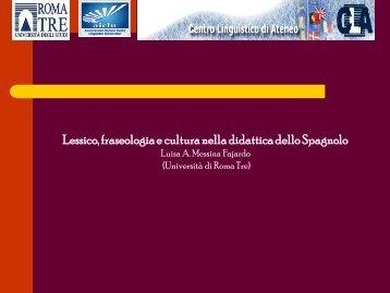 Lessico, fraseologia e cultura nella didattica dello Spagnolo