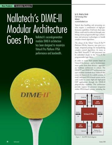 Nallatech's DIME-II Modular Architecture Goes Pro