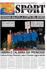Giovedi' 20 Marzo - SPORTquotidiano