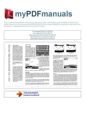 User manual EAGLE ULTRA II - MY PDF MANUALS