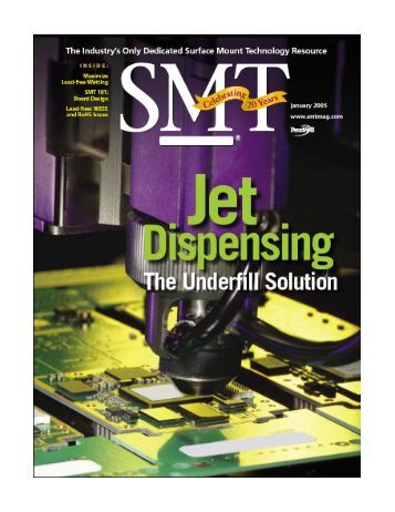 Jet Dispensing The Underfill Solution - SA Technologies