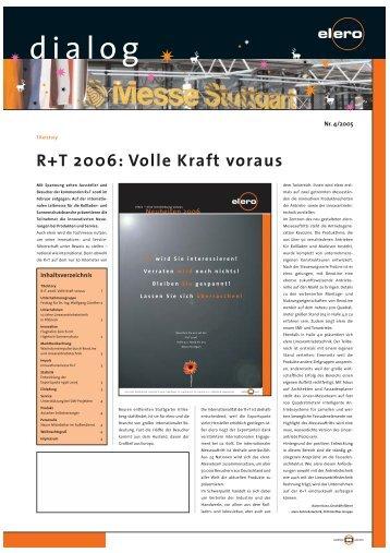 R+T 2006: Volle Kraft voraus - elero Antriebstechnik