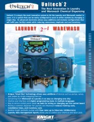Laundry and Warewash Chemical Dispensing System - knight llc