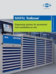 Dispensing systems for permanent tool availability on site - Mapal