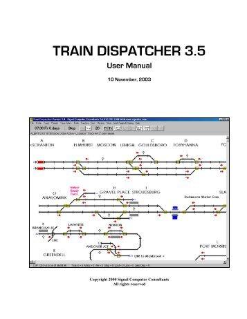 TRAIN DISPATCHER 3.5 - Signal Computer Consultants