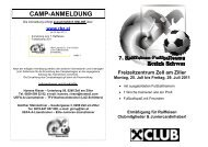 Freizeitzentrum Zell am Ziller Montag, 25. Juli bis Freitag ... - Raiffeisen