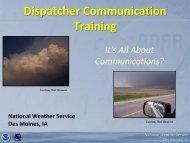 Dispatcher Communication Training - NOAA