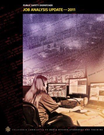 Public Safety Dispatcher Job Analysis Update ... - State of California