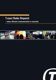 T.react Radio Dispatch - Terma