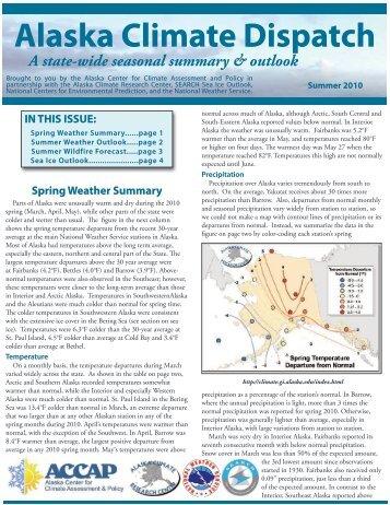 Alaska Climate Dispatch
