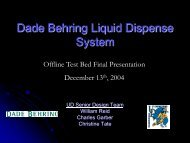 Dade Behring Liquid Dispense System - on sites