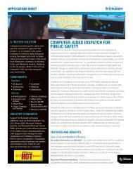 Computer-Aided Dispatch for Public Safety Application ... - Intergraph