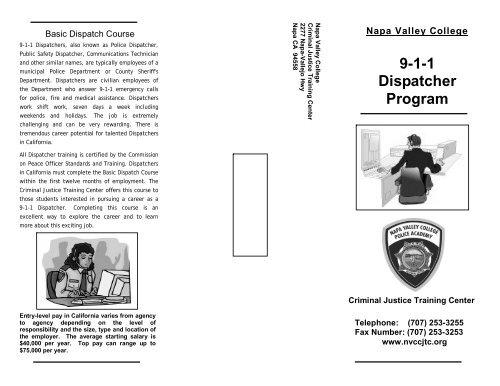 9-1-1 Dispatcher Program - Napa Valley College Criminal