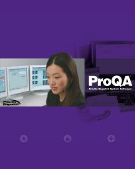 ProQA Software Brochure - Priority Dispatch Corporation