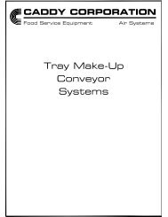 Tray Make-Up Conveyor Systems - Caddy Corporation