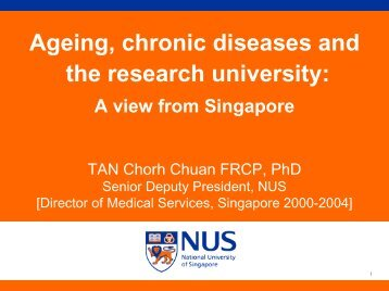 Ageing, chronic diseases and the research university: