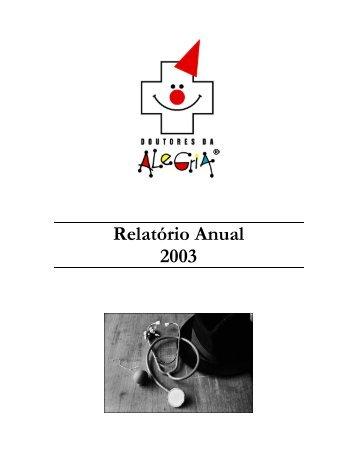 Relatório anual 2003 - Doutores da Alegria