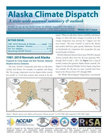 Alaska Climate Dispatch - Institute of Northern Engineering ...