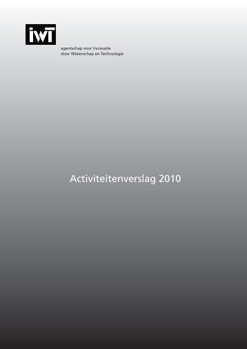 Jaarverslag 2010 - IWT