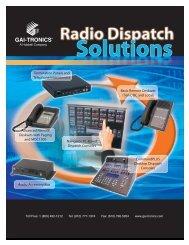Radio Dispatch Solutions Brochure - GAI-Tronics
