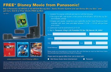 FREE* Disney Movie from Panasonic!