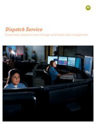 Dispatch Service - Motorola Solutions