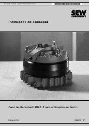 Freio de disco duplo BMG..T para aplicações em ... - SEW Eurodrive