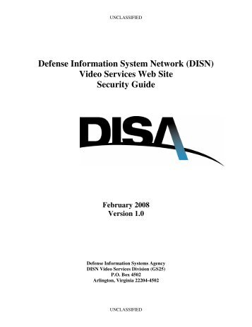 Defense Information System Network (DISN) Video Services Web ...