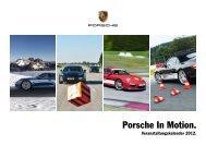 Porsche In Motion. Veranstaltungskalender 2012.