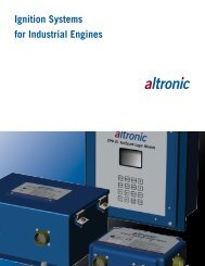 Ignition Systems for Industrial Engines - Altronic Inc.