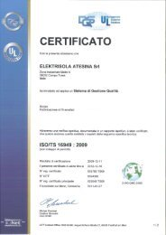CERTIFICATO - Elektrisola